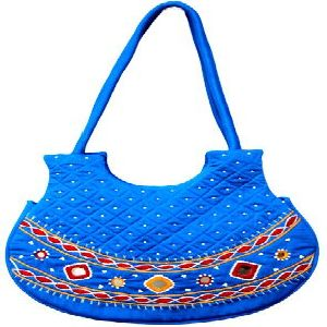 Rola pola Blue Embroidery Bag