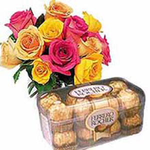 Mix Roses with Ferrero Chocolates