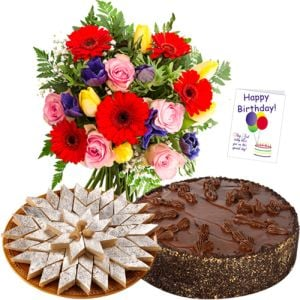Mix Flowers with Cake n Sweets