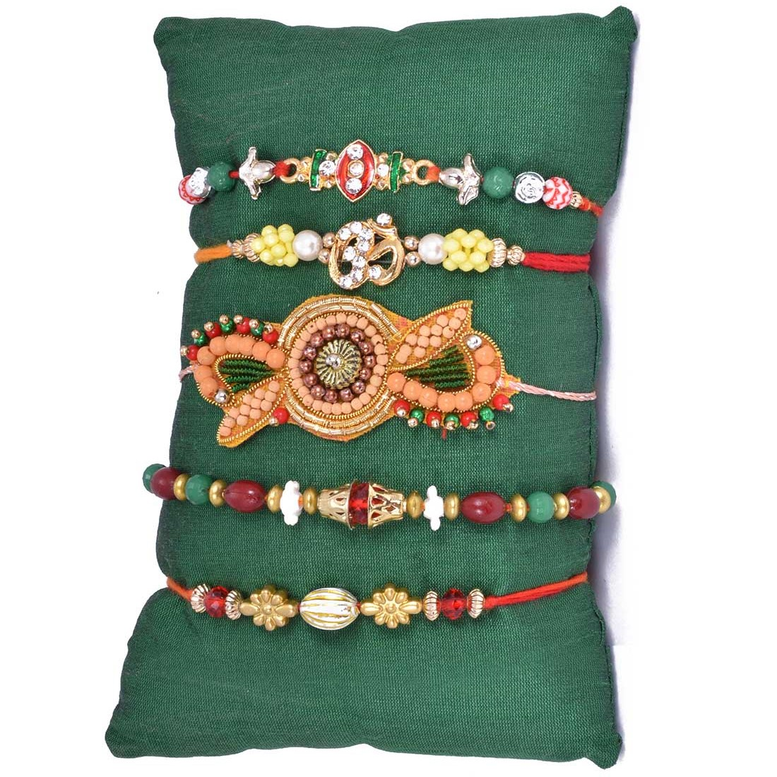 Ethnic Handcrafted 5 Rakhi Set