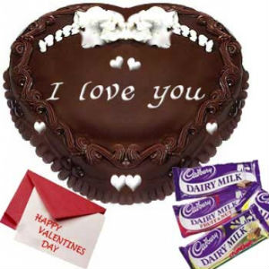 Heart Shape Chocolate Cake n Chocolates