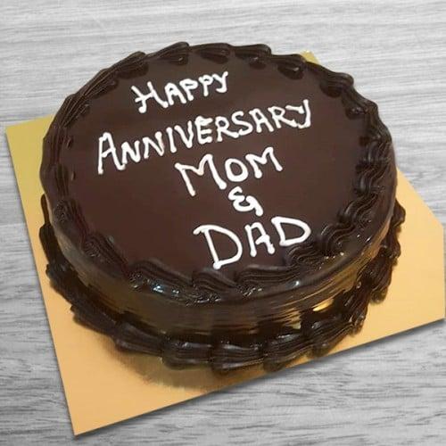 Anniversary Mom n Dad Chocolate Cake
