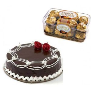 1Kg Chocolate Cake with Ferrero