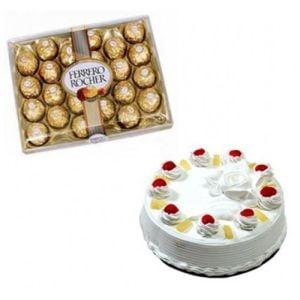 1Kg Pineapple Cake n 24Pcs Ferrero