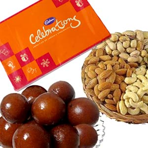 Dry Fruits with Chocos n Gulab Jamun