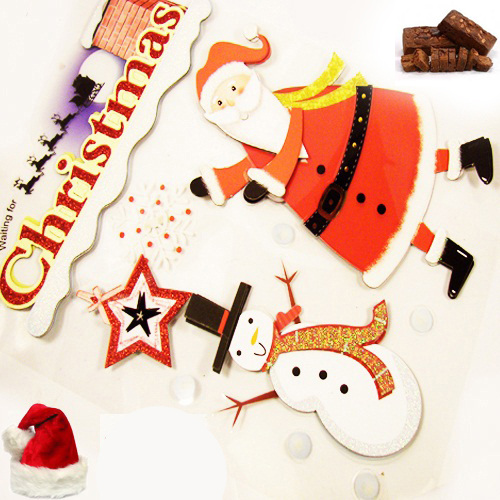 Christmas Stickers with Plum Cake
