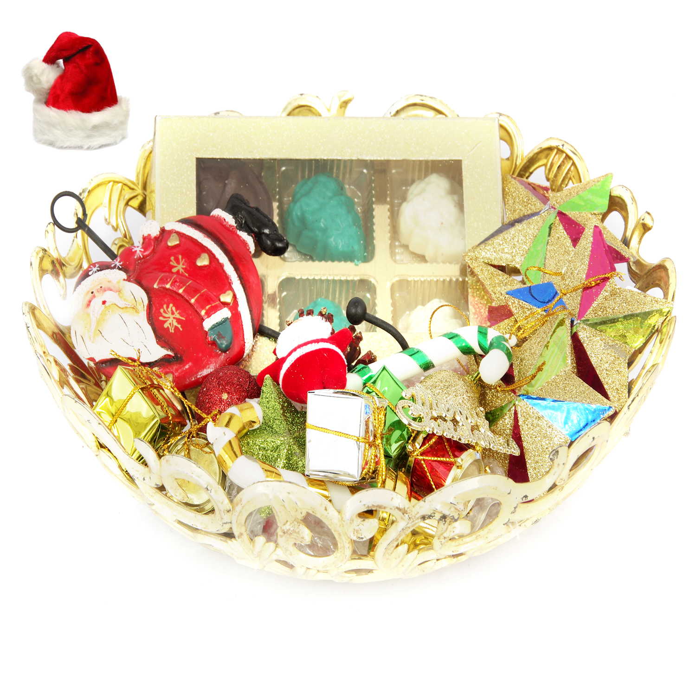 Christmas Golden Basket Chocolate Hamper