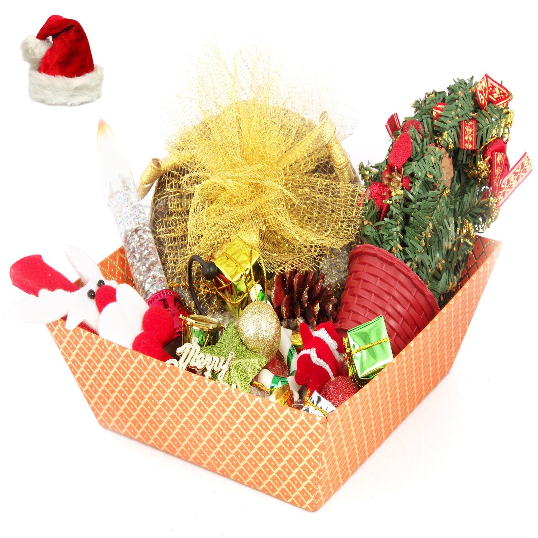 Christmas Orange Basket Plum Cake Hamper