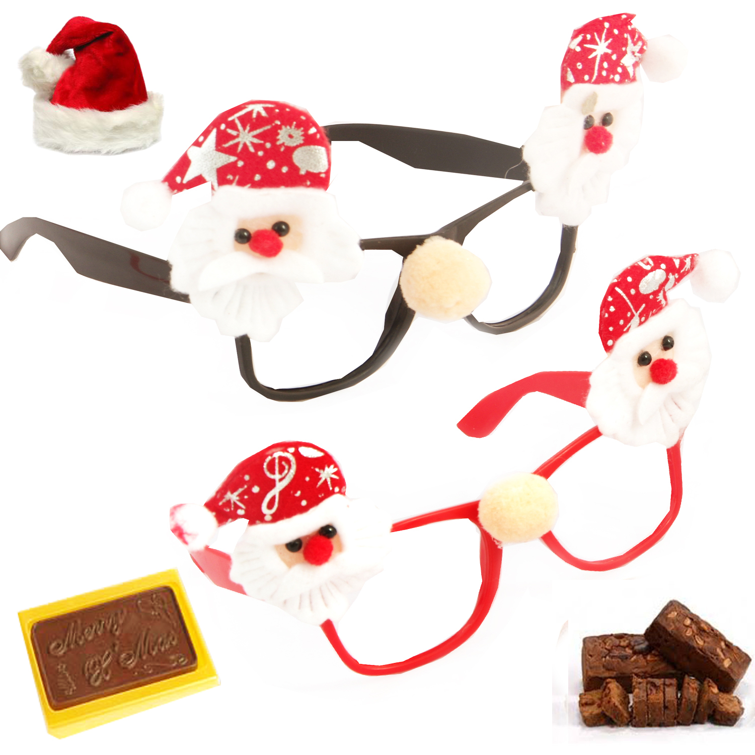 Set of 2 Santa Specs Christmas Hamper