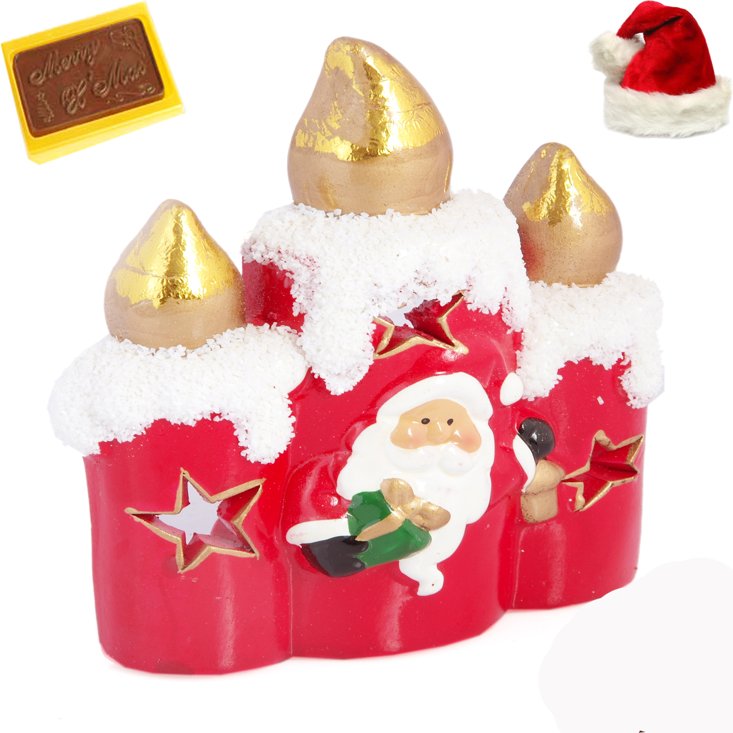Santa T-Lite Candle Stand Christmas Hamper