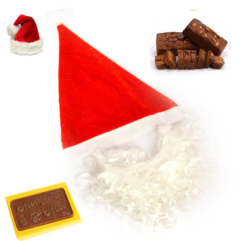 Santa Cap with Beard Christmas Hamper