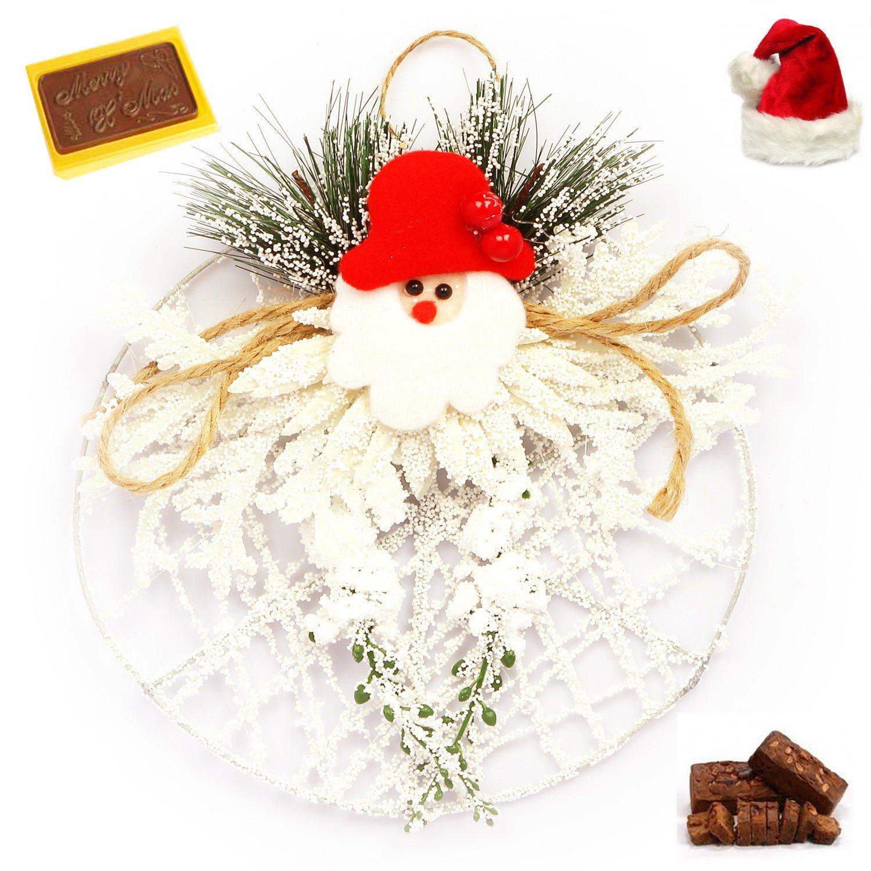 White Snow Santa Wreath Christmas Hamper