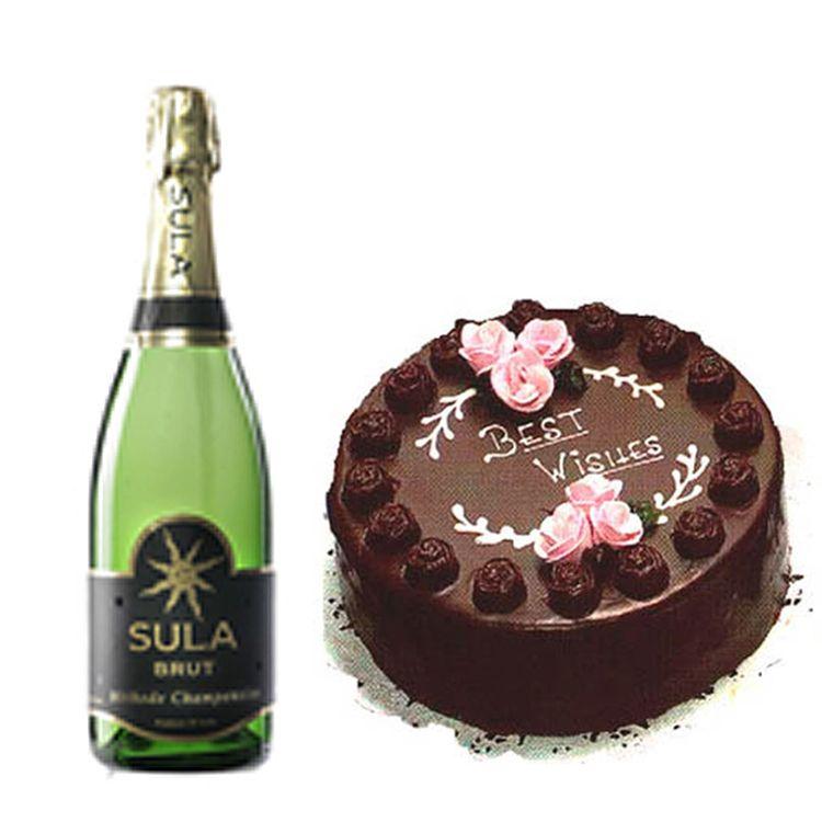 1Kg Chocolate Cake N Champagne