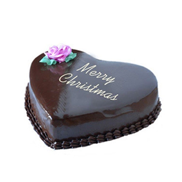 1.5Kg Christmas Heart Chocolate Cake