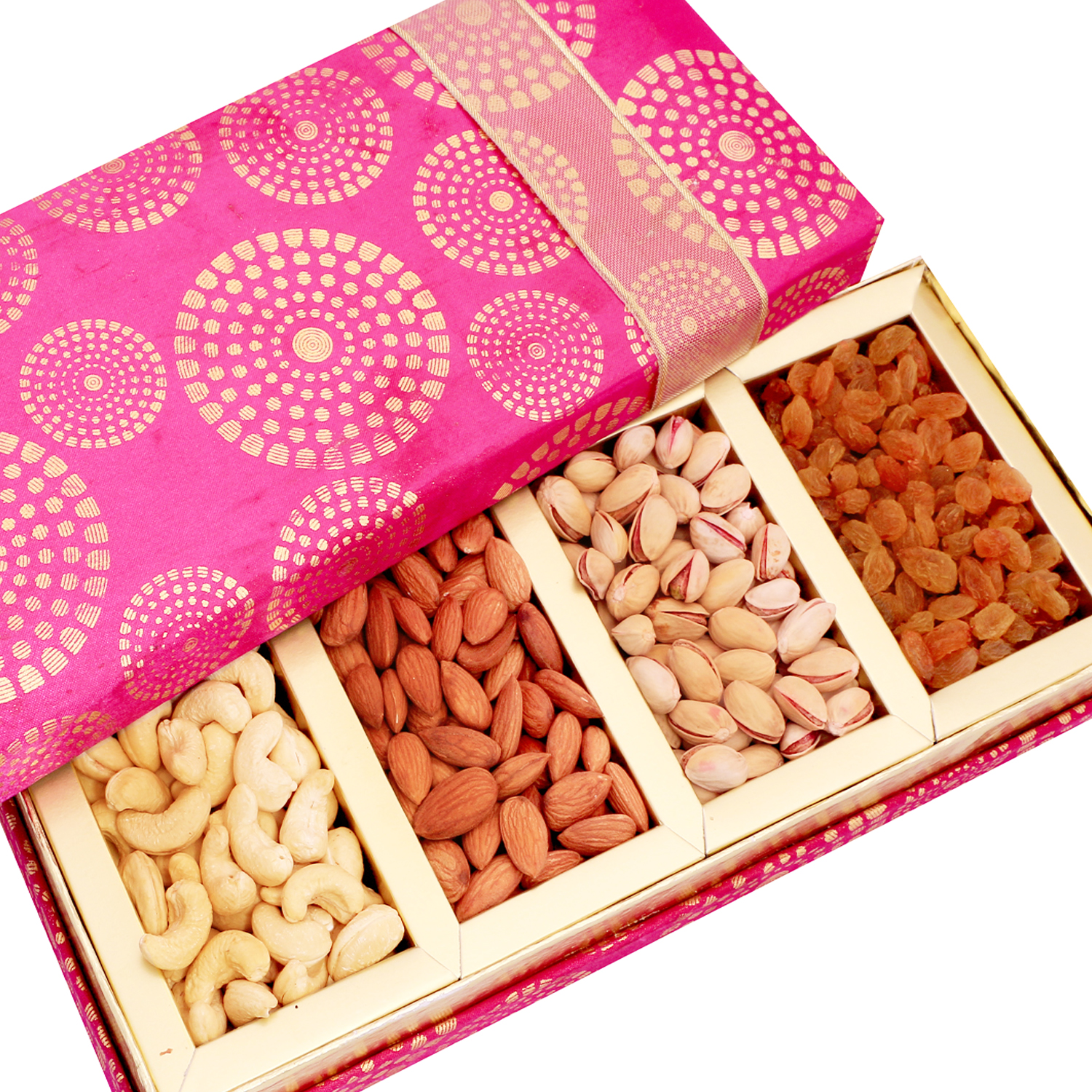 Satin 4 part Dryfruit Box