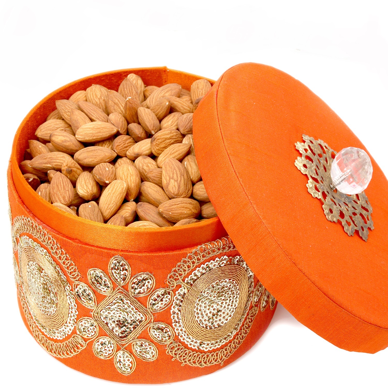 Round Orange Almond Box