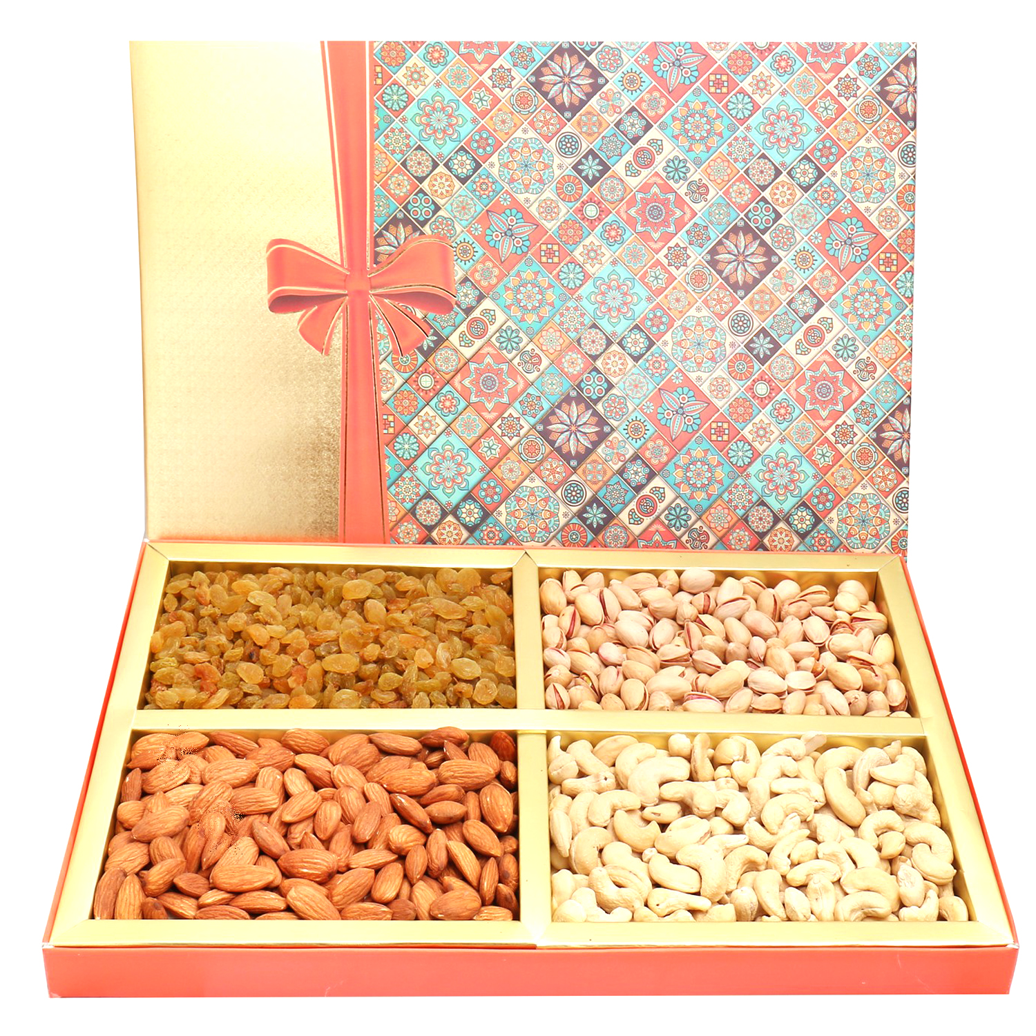 Printed Bow Dryfruit Box 800Gm
