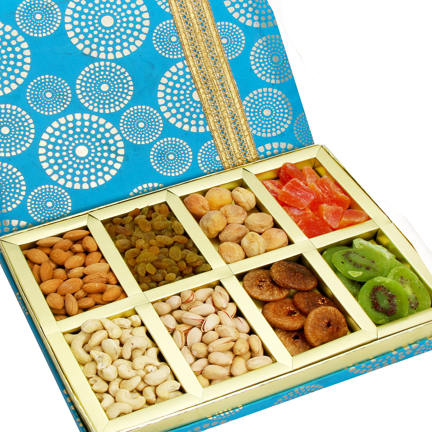 Satin 8 part Assorted Dryfruit Box