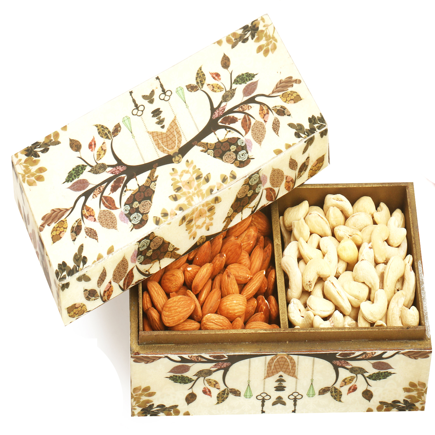 Wooden 2 part Almonds and Cashews Box