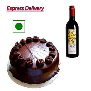 1/2Kg Chocolate Cake With Red Wine