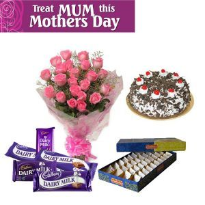 Roses, Cake, Sweet n Chocolates for Mother
