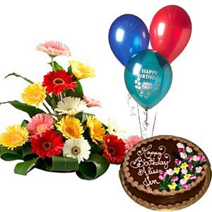 Cake n Flowers Hamper