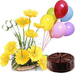 Cake n Flowers Combo