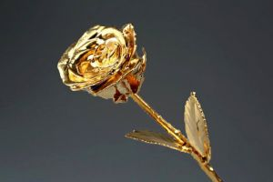 Gold Dipped Rose 6 Inch
