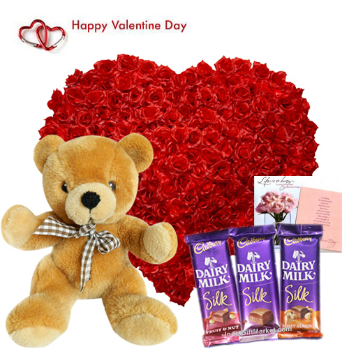Send Valentines Day Love Package To India