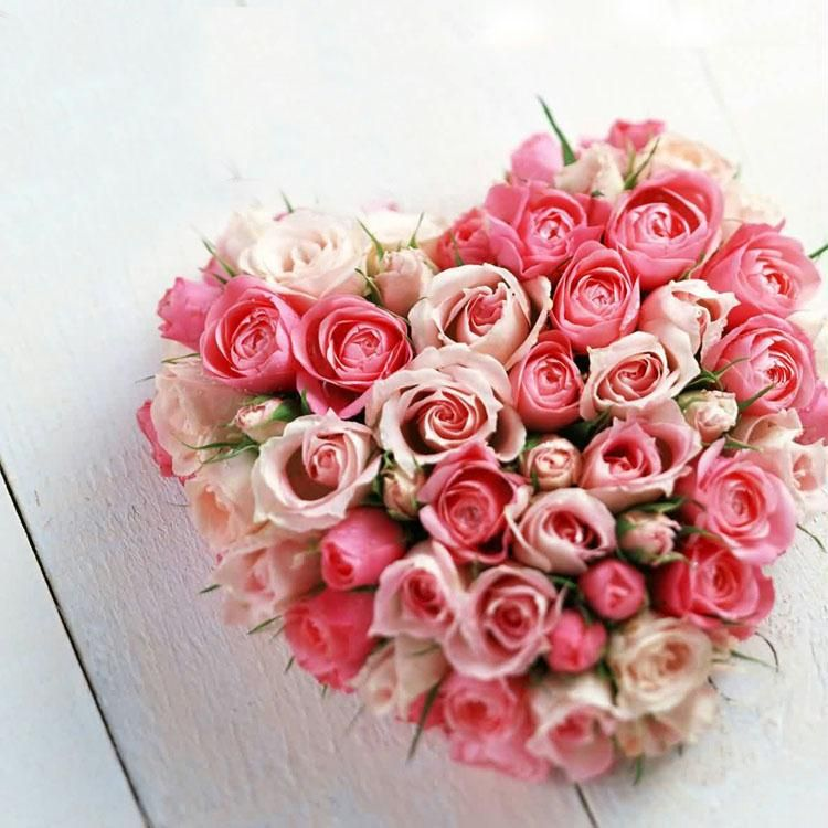 Heart Shape with Pink Roses
