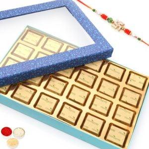 Rakhi with Blue Window 24 Cavity Assorted Chocolat