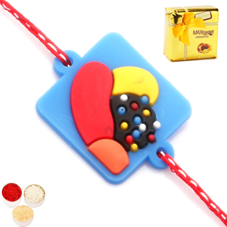 Kids Rakhi Candy Crush Rakhi With Chocolate Box