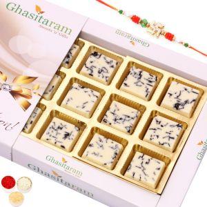 Rakhi with Choco Vermicilli Chocolate Box 12pcs