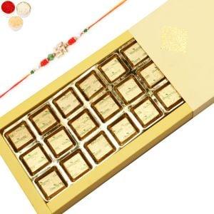 Rakhi with 24 Cavity Classic Assorted Chocolate Bo