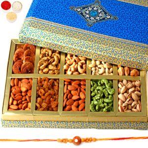 Rakhi with Exotic Dryfruit Box of 10 Dryfruits