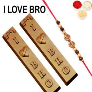 Rakhi with I Love Bro Chocolates