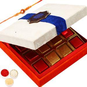 Rakhi with White Chocolate Box