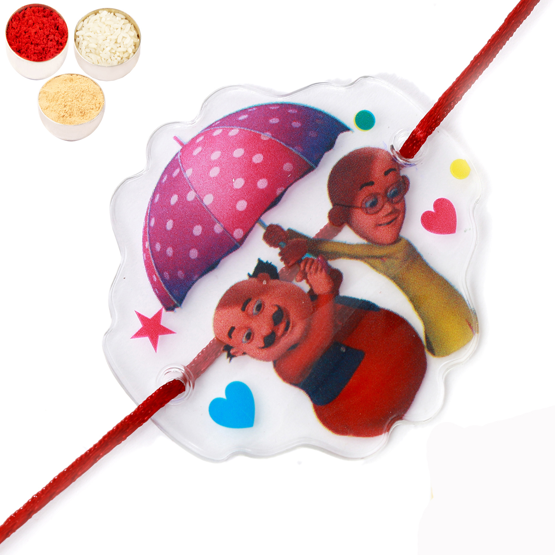 Motu Patlu Transparent Umbrella Rakhi