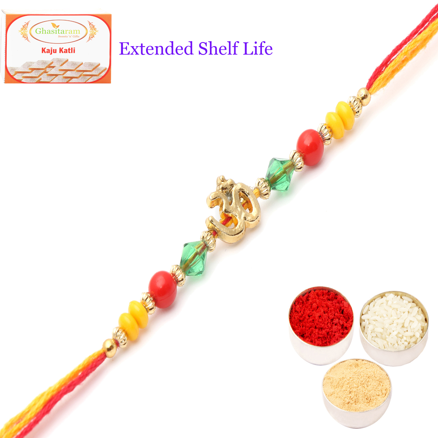 6013 Rakhi Thread with 400Gm Kaju Katli