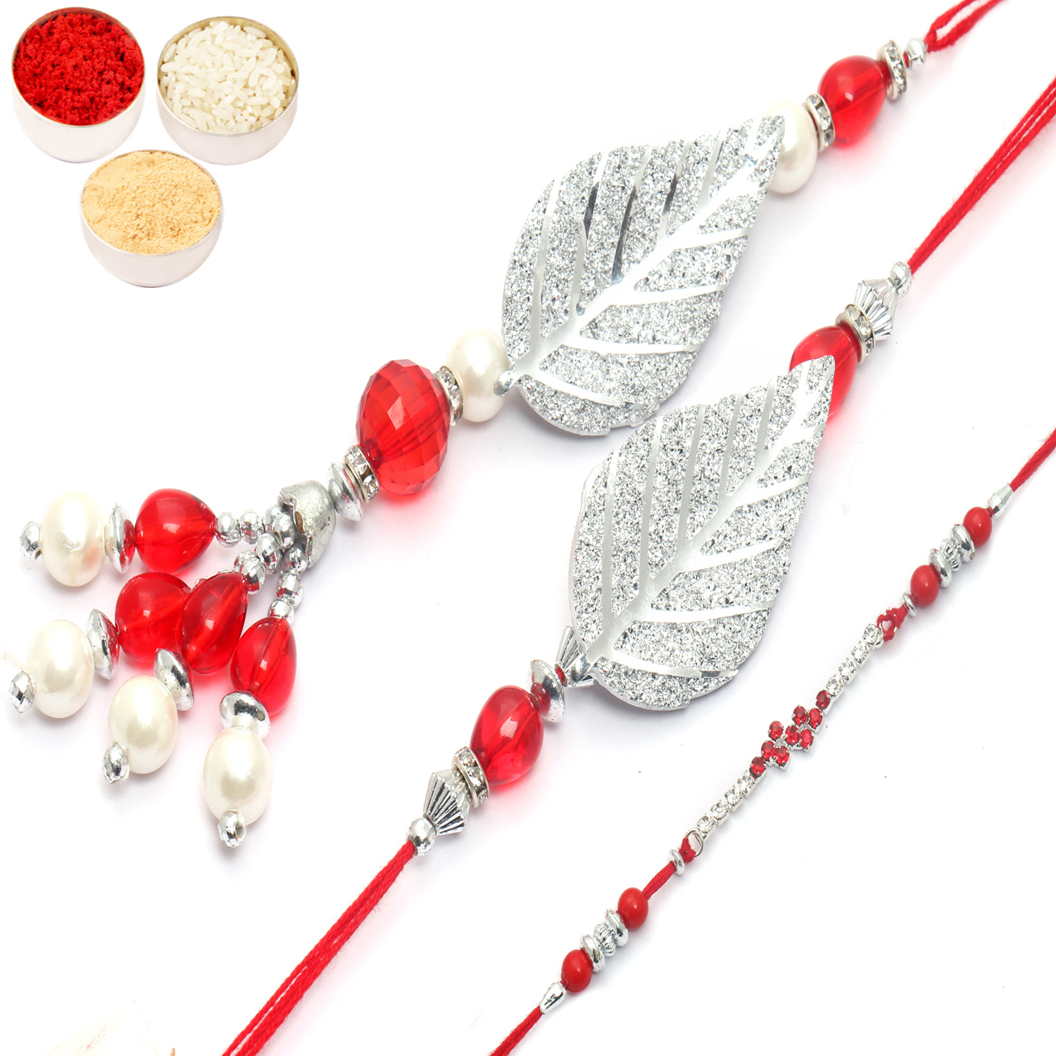 Glittering Leaves of Trust bhaiya Bhabhi Rakhi