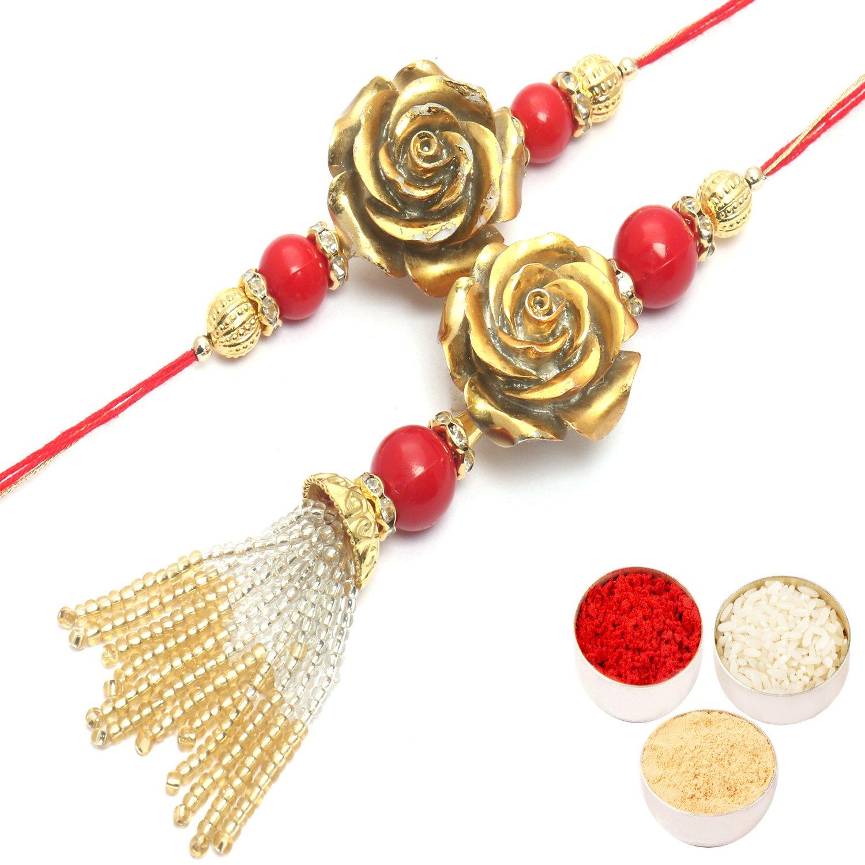 Golden Rose bhaiya Bhabhi Rakhi