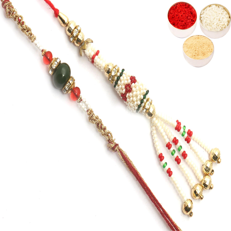 Priceless Pearls bhaiya Bhabhi Rakhi