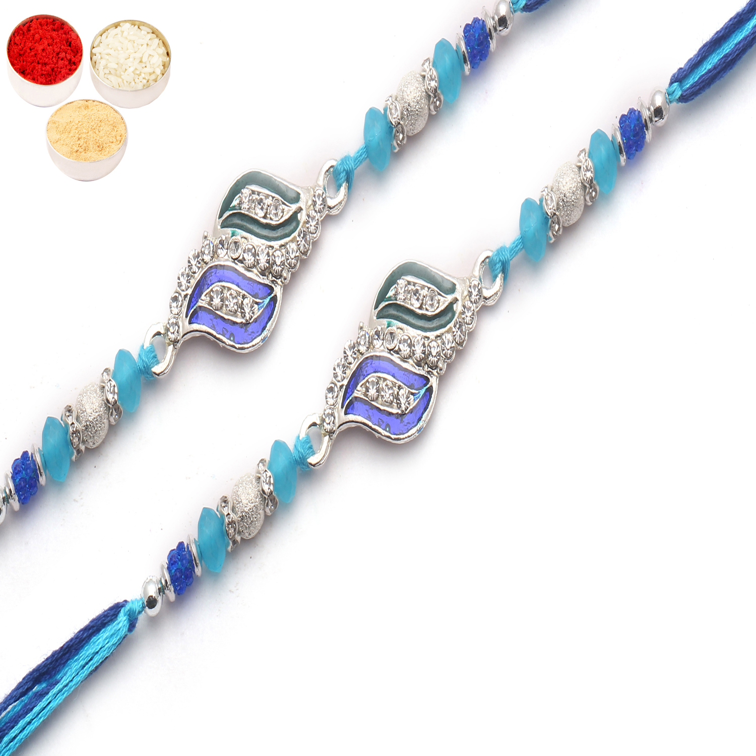 Set of 2 8293 Diamond Rakhi