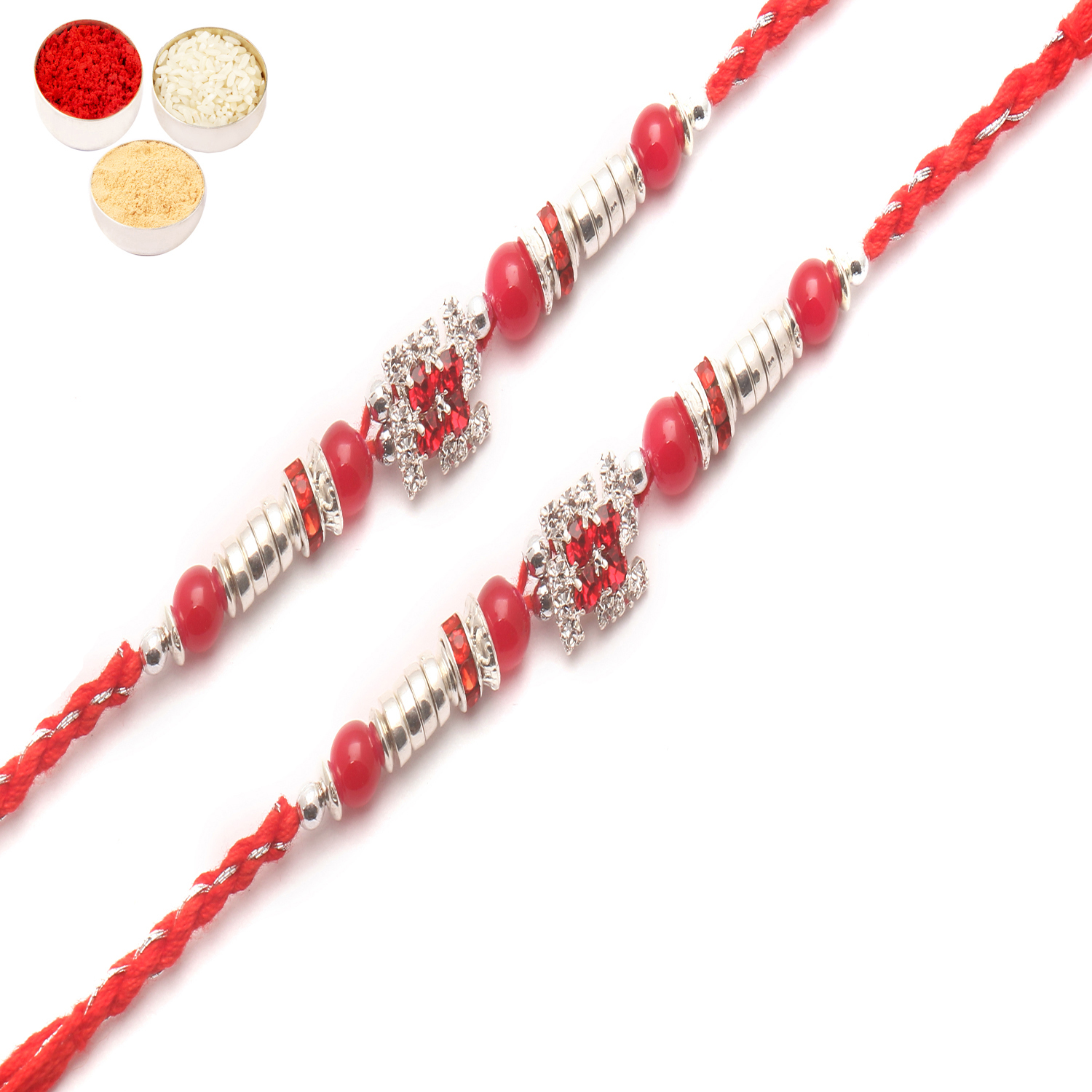 Set of 2 8983 Diamond Rakhi