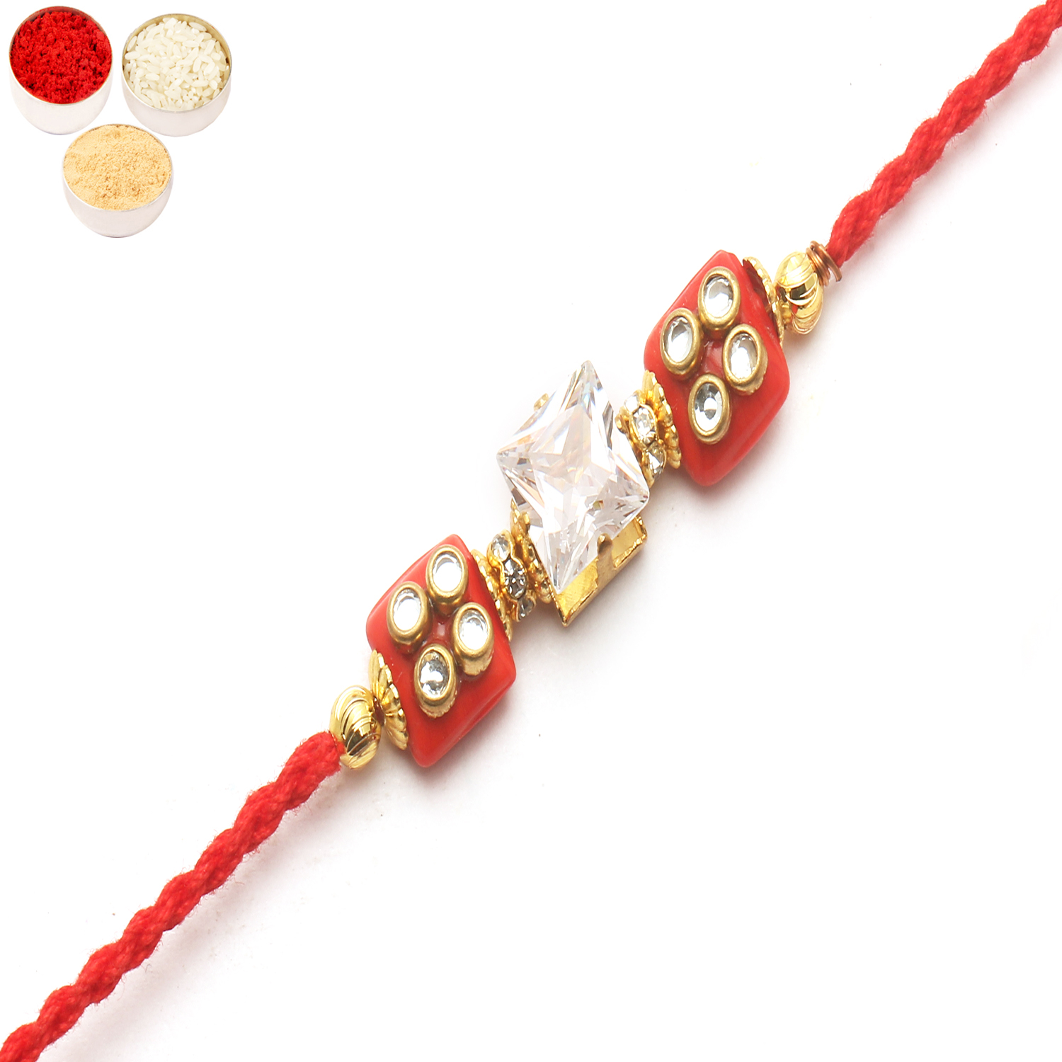 d209 Diamond Rakhi
