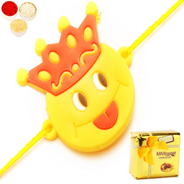 Keep smiling Kids Rakhi with Chocolate Box