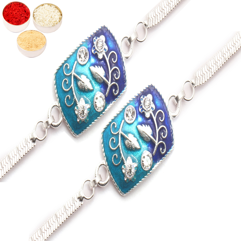 Set of Two AAMI Silver Rakhi