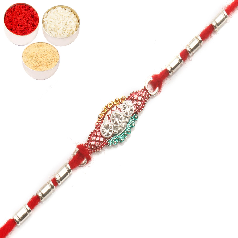 AARR426 Silver Rakhi