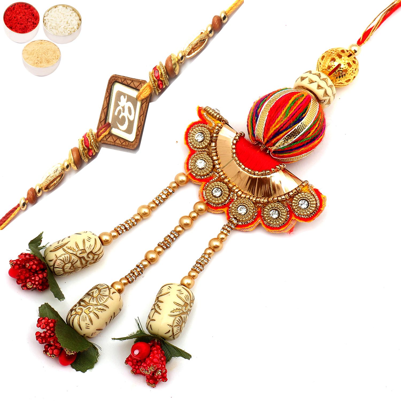 LuckyCharm rm075 Bhaiya Bhabhi Rakhi