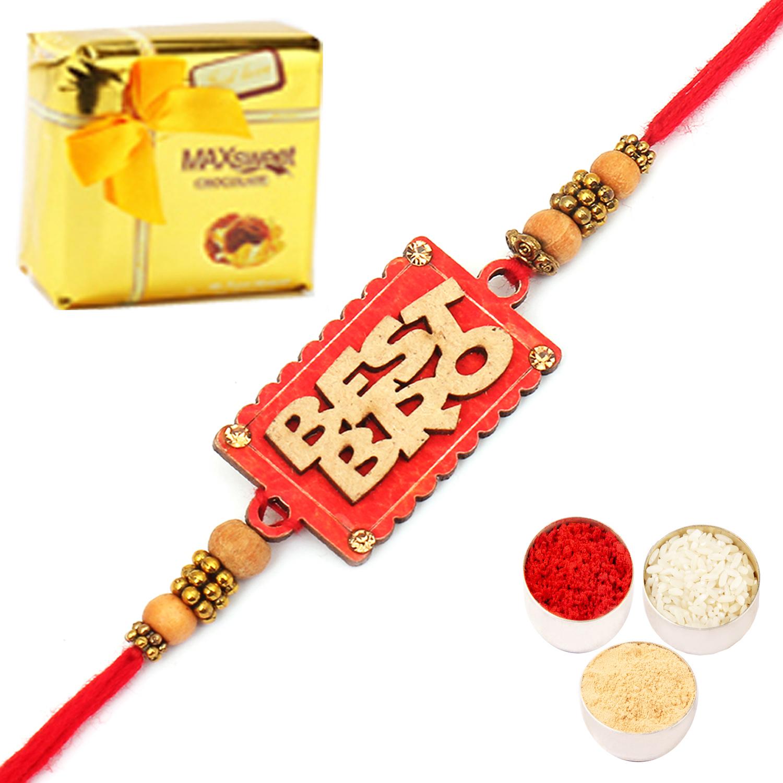 Best Bro Rakhi with Chocolate Box